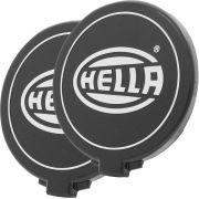 Par, Capa de proteção para farol de milha ou auxiliar Modelo Hella Black Comet 500 na cor preta