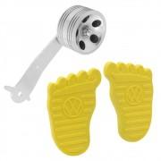 Par Capa Premium com logo VW modelo Foot pedal do freio e embreagem amarelo Pedal rolo Billet
