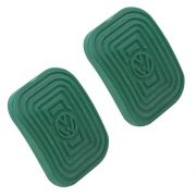 Par Capa Premium Logo VW Pedal do Freio Embreagem Linha VW Ar na cor Verde