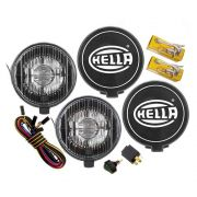 Par Farol de Milha Auxiliar Modelo Hella 500 Black Magic Edition