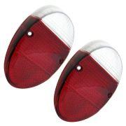 Par, Lente da lanterna traseira mod. rubi / cristal  para VW Fusca 1200 e 1300