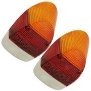 Par, Lente da lanterna traseira para VW Fusca 1500 Tricolor - Plástico
