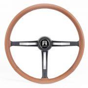 Volante Jay Matt C/ Couro Marrom Wolfsburg VW Fusca até 1976