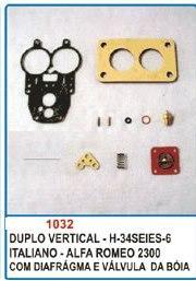 Kit de reparo do carburador para Alfa Romeu 2300 Solex duplo  - Bunnitu Peças e Acessórios