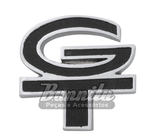 Emblema GT do  teto de vinil e grade na cor preta para Ford Corcel  - Bunnitu Peças e Acessórios