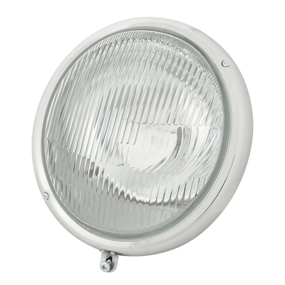 Farol Olho de Boi com lente Raiada para VW Fusca até 1972  - Bunnitu Peças e Acessórios