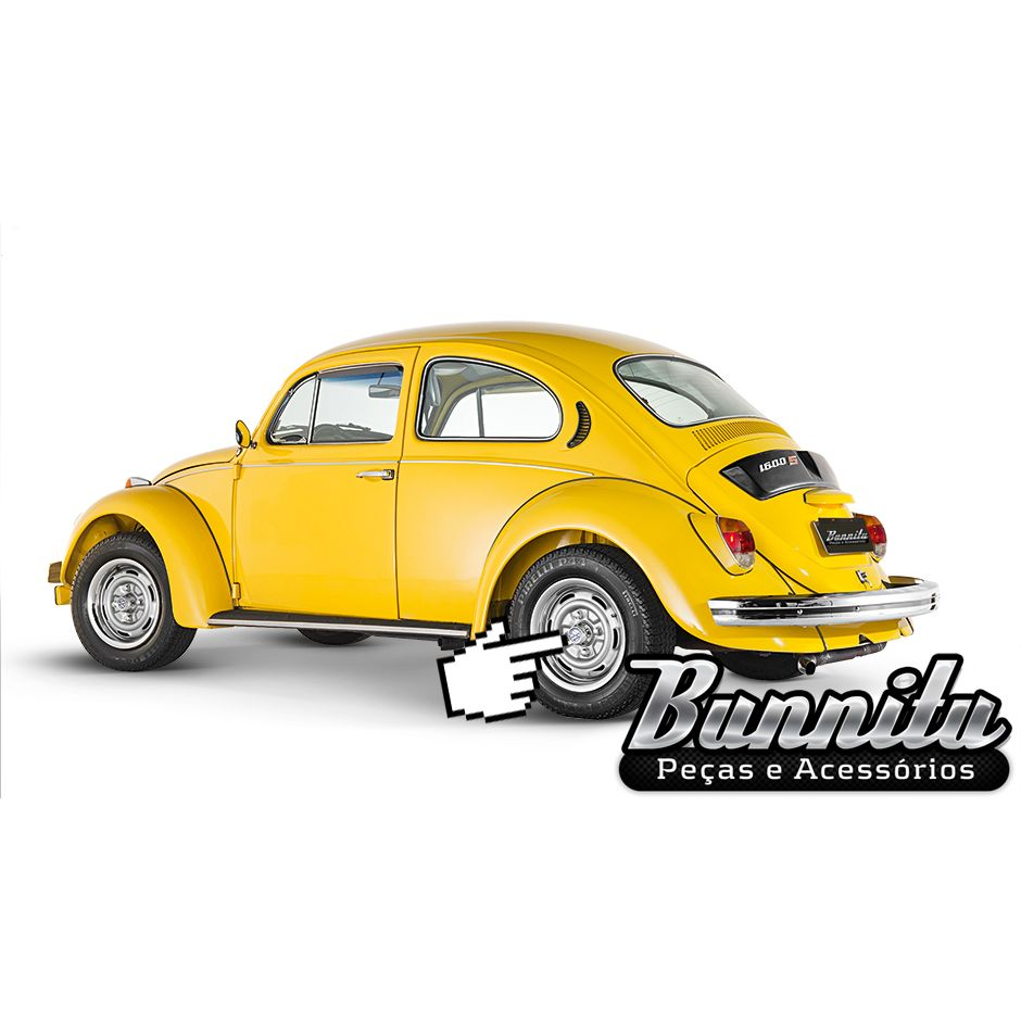 Calota copinho cromada de roda 4 furos para Fusca, Variant, Karmann Ghia e TL  - Bunnitu Peças e Acessórios
