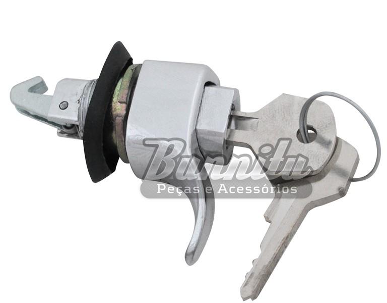 Botão com chave do porta luvas para VW Fusca e Karmann Ghia  - Bunnitu Peças e Acessórios