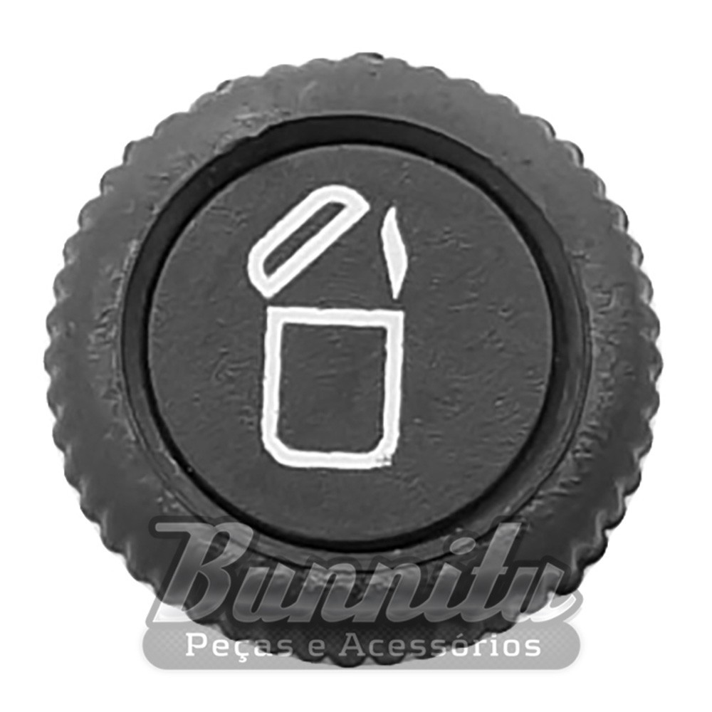 Botão do acendedor para painel do VW Fusca, Kombi, Brasília, Variant e Passat  - Bunnitu Peças e Acessórios