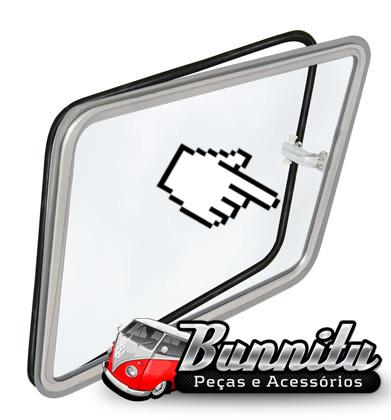 Borracha do vidro da janela lateral móvel interna para VW Kombi até 1975  - Bunnitu Peças e Acessórios