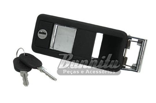 Maçaneta externa da porta do Alfa Romeu e Puma GTB  e adaptações -  Com chave  - Bunnitu Peças e Acessórios