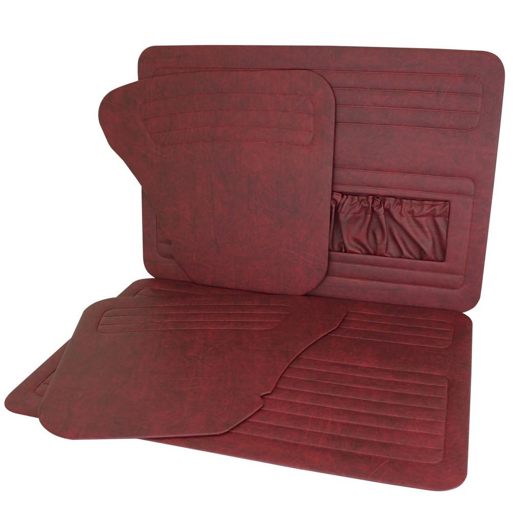 Forração de porta e lateral na cor Vermelha para VW Fusca até 1977  - Bunnitu Peças e Acessórios