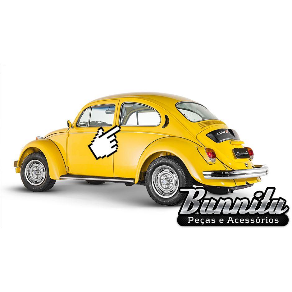 Friso de alumínio para borracha do vidro lateral fixo do VW Fusca  - Bunnitu Peças e Acessórios