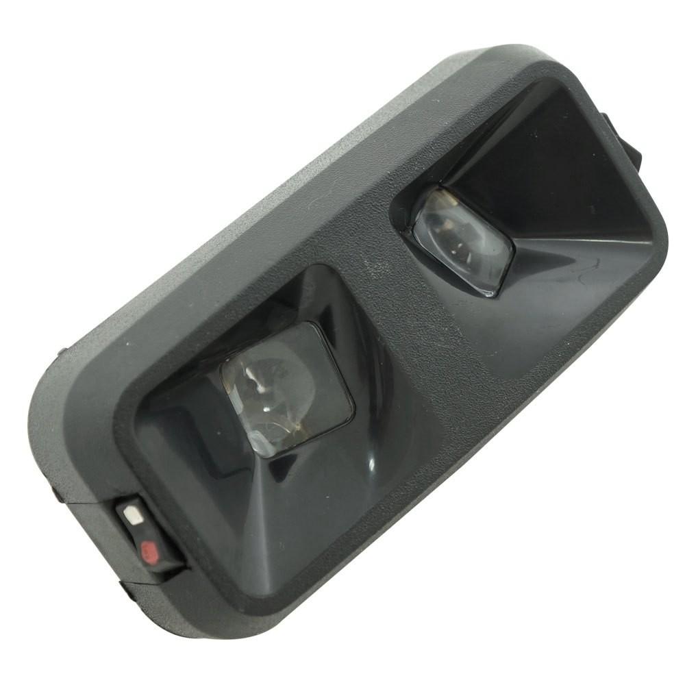 Luz de teto na cor preta para GM Opala Caravan Comodoro Diplomata 1985 à 1992  - Bunnitu Peças e Acessórios