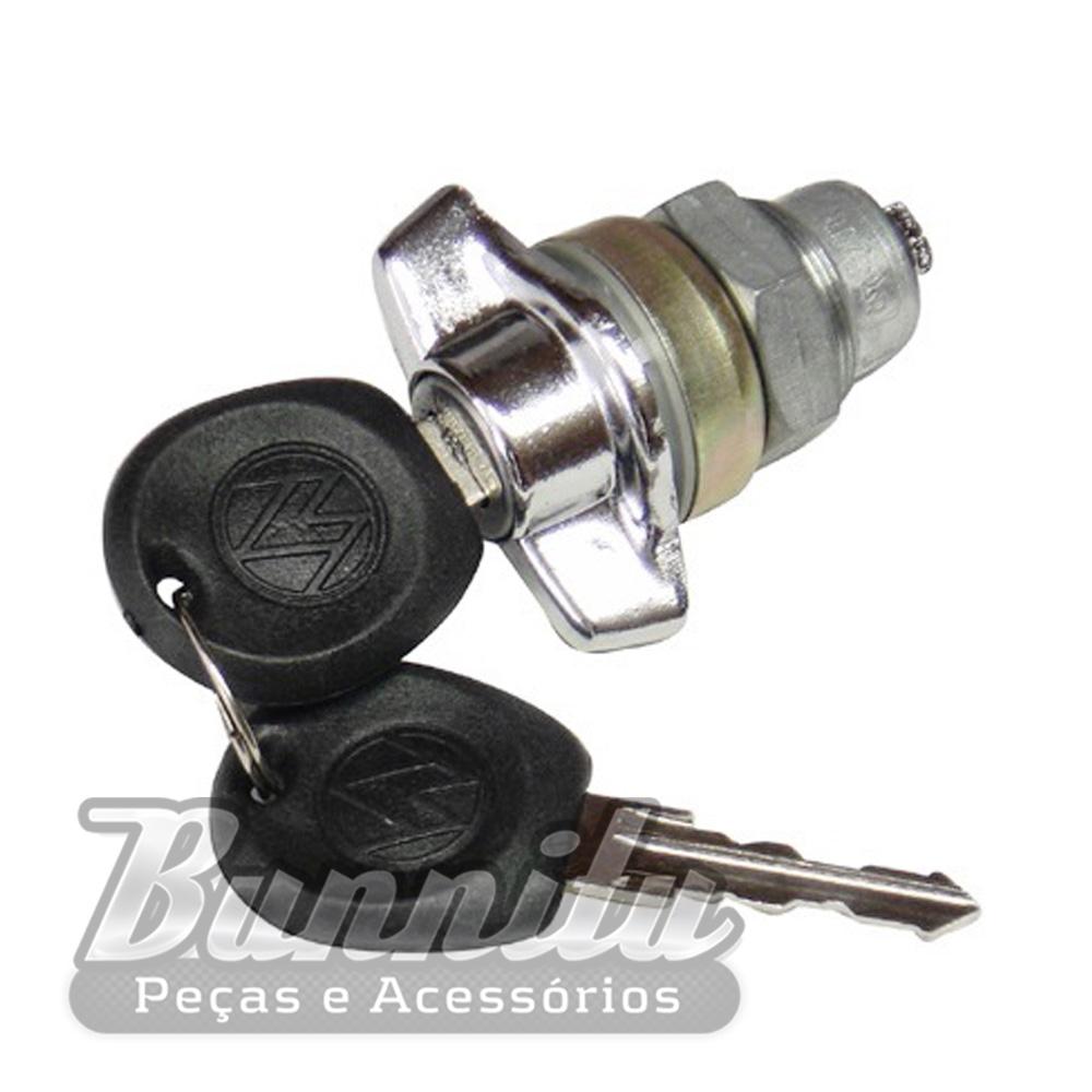 Maçaneta externa cromada com chave do porta malas para VW Passat 3 portas  - Bunnitu Peças e Acessórios
