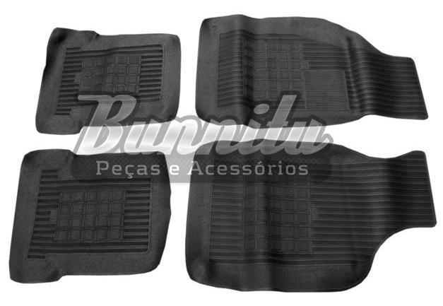 Tapete de borracha novo na cor preta para VW Passat - Jogo com 4 peças  - Bunnitu Peças e Acessórios