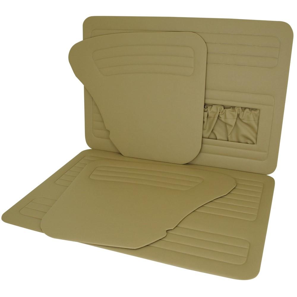 Forração de porta e lateral na cor caramelo com bolsa para VW Fusca até 1977  - Bunnitu Peças e Acessórios