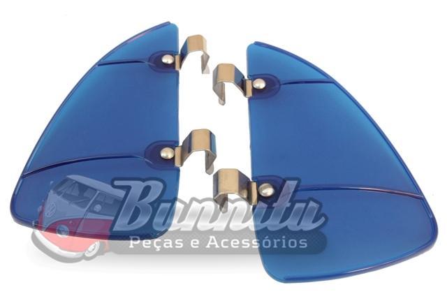 Defletor em Acrílico Azul para quebra vento VW  - Bunnitu Peças e Acessórios