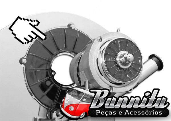 Acrílico decorativo, capa de alternador do VW Ar  - Bunnitu Peças e Acessórios