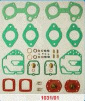 Kit de Reparo do carburador Solex 40  Duplo horizontal Alfa TI  - Bunnitu Peças e Acessórios