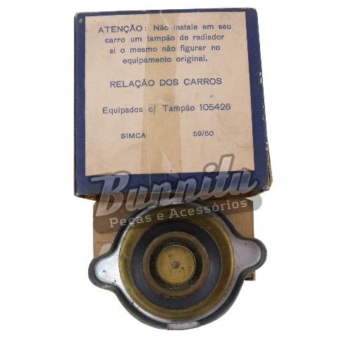 Tampa do radiador para Simca 1959 até 1960  - Bunnitu Peças e Acessórios
