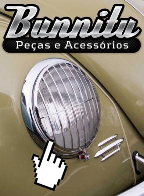 Grade do farol olho de boi para Porsche 356, VW Fusca e Kombi  - Bunnitu Peças e Acessórios