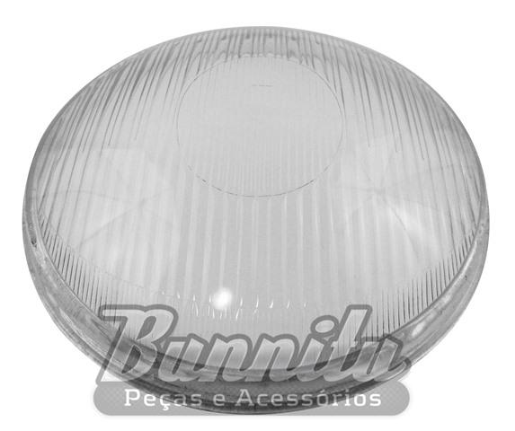 Lente do Farol Olho de Boi para VW Fusca Oval 1953 à 1957  - Bunnitu Peças e Acessórios