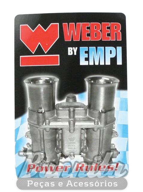 Adesivo original Weber by Empi Power Rules  - Bunnitu Peças e Acessórios