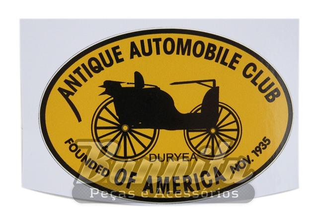 Adesivo modelo Antique Automobile Club of America  - Bunnitu Peças e Acessórios