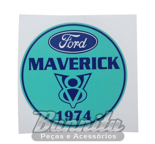 Adesivo modelo Ford Maverick V8 1974  - Bunnitu Peças e Acessórios