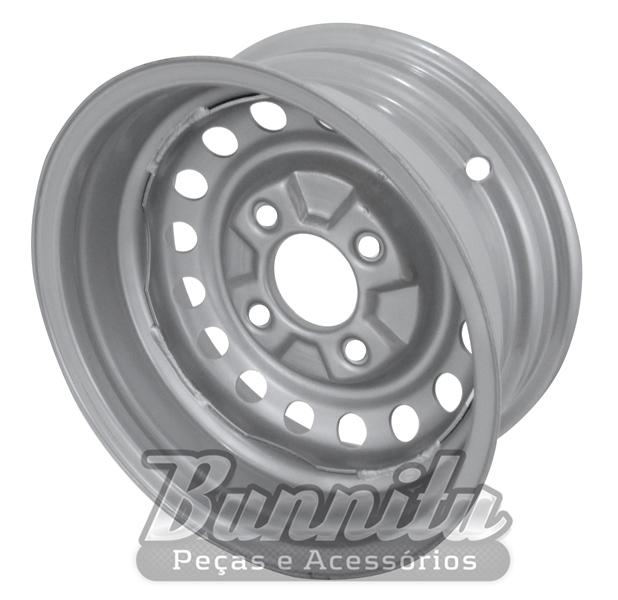 Roda de aço aro 14 para VW Brasília 4 furos  - Bunnitu Peças e Acessórios