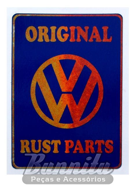 Adesivo modelo Original Rust Parts VW  - Bunnitu Peças e Acessórios