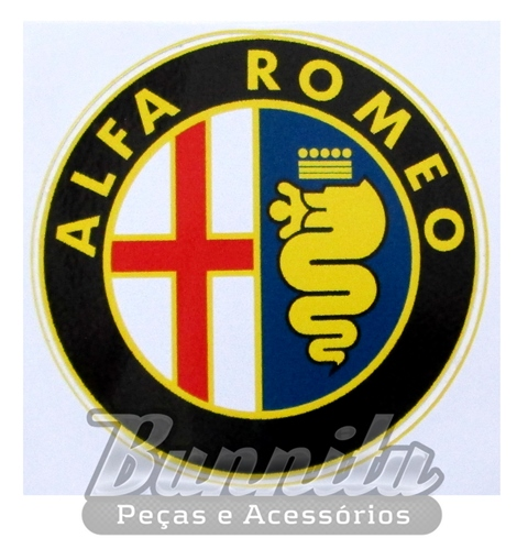Adesivo modelo Alfa Romeo  - Bunnitu Peças e Acessórios