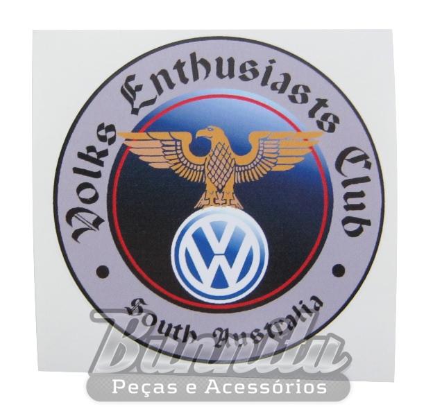 Adesivo modelo Volks Enthusiasts Club  - South Australia  - Bunnitu Peças e Acessórios