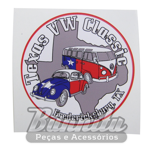 Adesivo modelo Texas VW Classic  - Bunnitu Peças e Acessórios