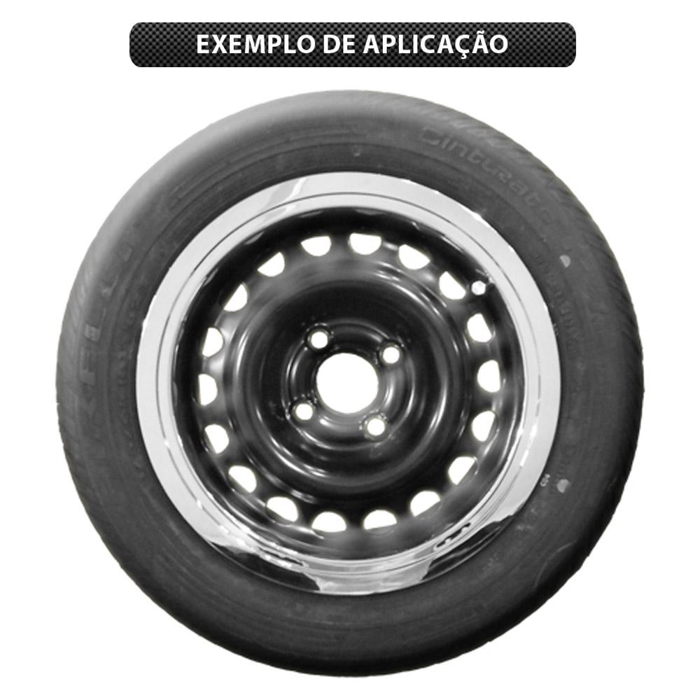 Sobre Aro em ABS Cromado Roda Aro 13  - Bunnitu Peças e Acessórios