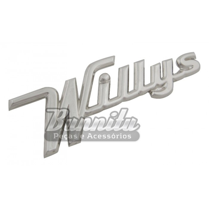 Emblema Willys para linha Aero Willys  - Bunnitu Peças e Acessórios