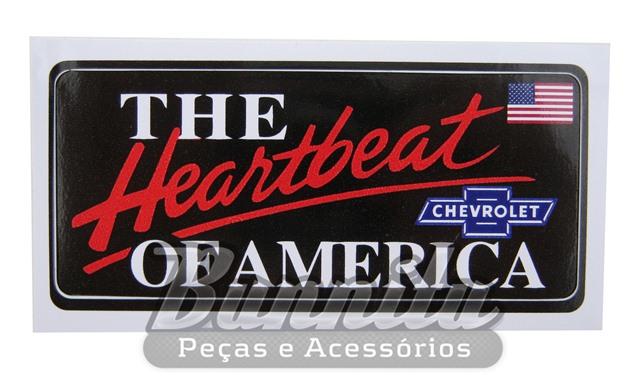 Adesivo para vidro modelo Chevrolet The Heartbeat of America  - Bunnitu Peças e Acessórios