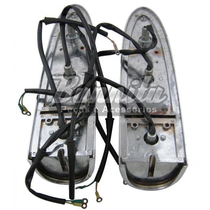 Par de lanternas traseira para Aero Willys 1965 à 1966  - Bunnitu Peças e Acessórios
