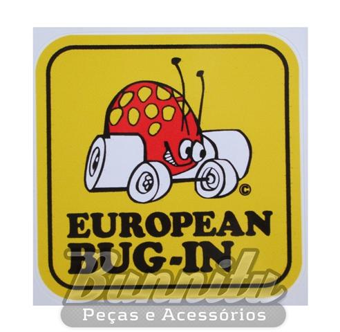 Adesivo modelo - European Bug-In  - Bunnitu Peças e Acessórios