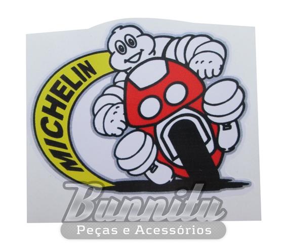 Adesivo modelo - Mascote da Michelin  - Bunnitu Peças e Acessórios