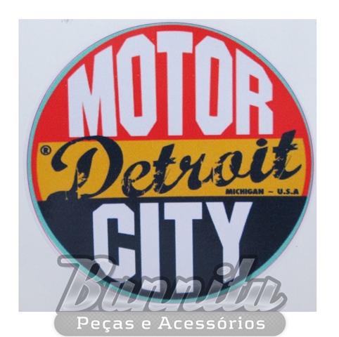 Adesivo modelo - Motor Detroit City - Michigan U.S.A  - Bunnitu Peças e Acessórios
