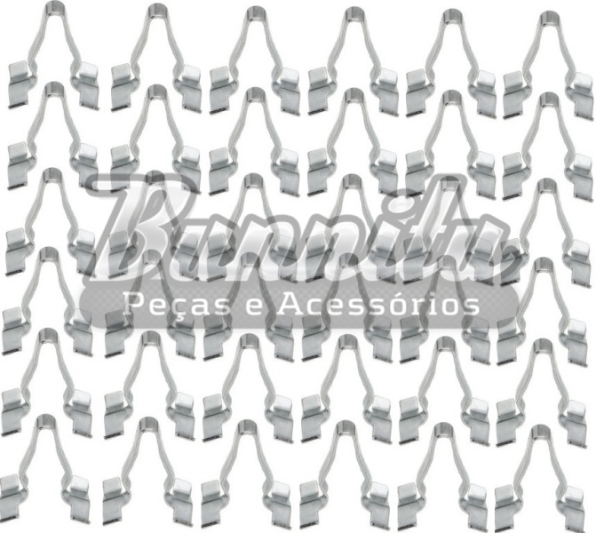 Pacote de grampos importados do friso lateral para VW Fusca até 1970  - Bunnitu Peças e Acessórios