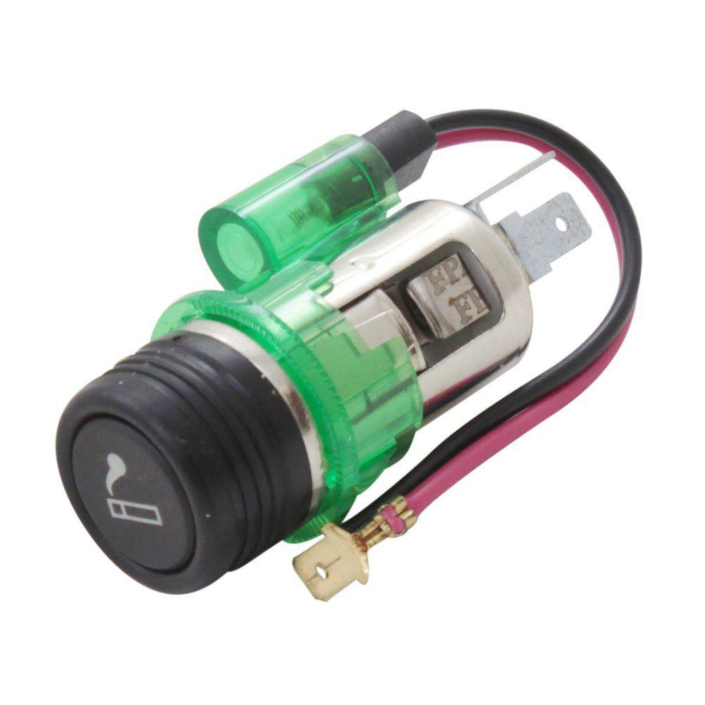 Acendedor de cigarros universal modelo 12V com iluminação  - Bunnitu Peças e Acessórios