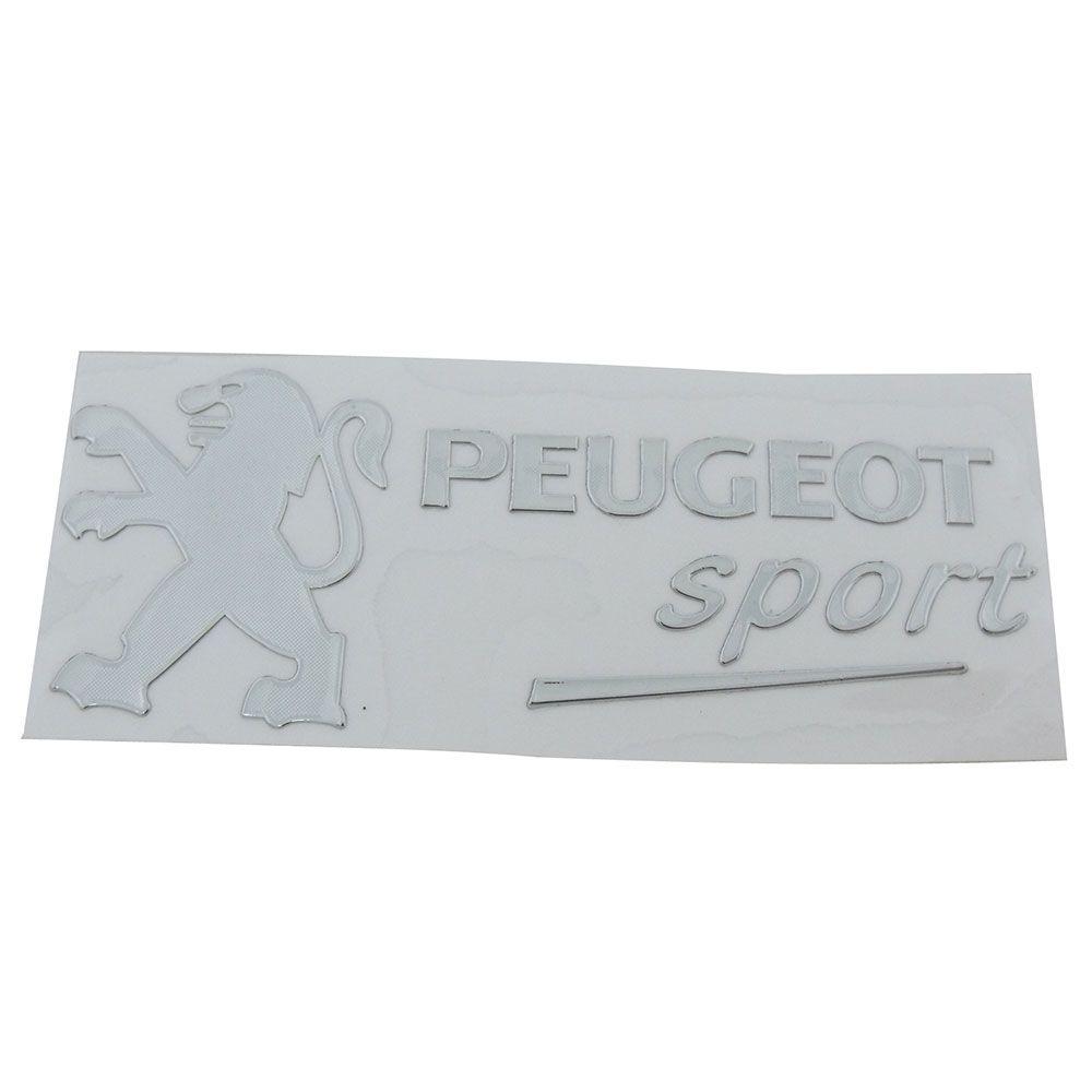 Adesivo externo para vidro modelo Peugeot Sport  - Bunnitu Peças e Acessórios