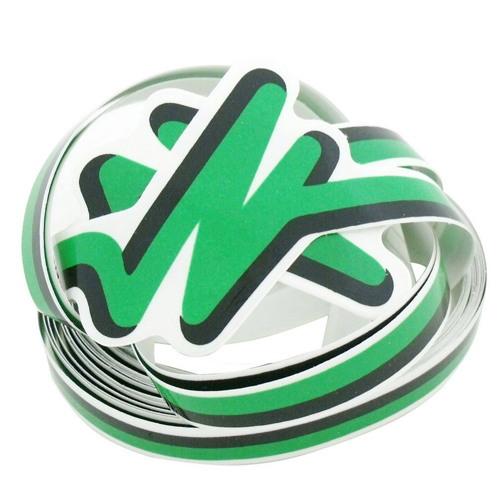 Adesivo filete da lateral na cor verde para VW Fusca 1993 à 1996  - Bunnitu Peças e Acessórios