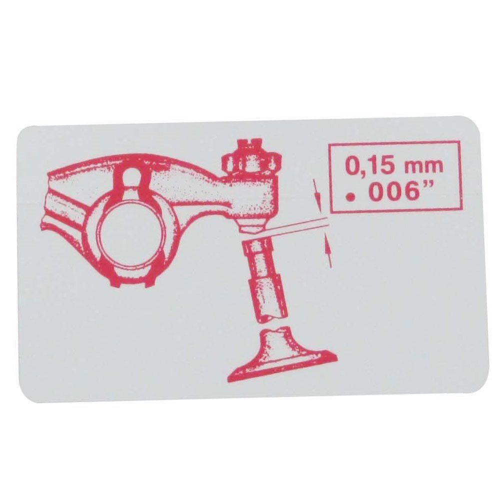 Adesivo importado para regulagem de válvulas VW Fusca de 1954 à 1966  - Bunnitu Peças e Acessórios