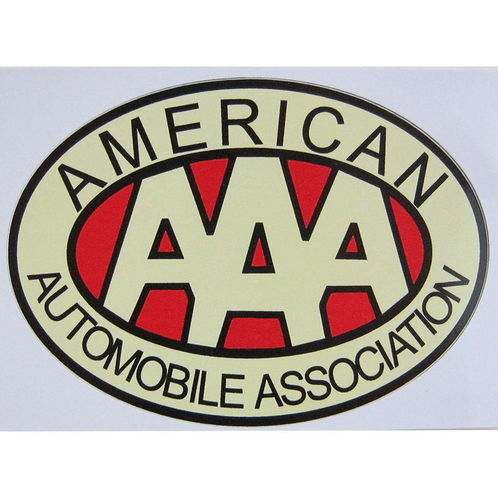 Adesivo modelo AAA - American Automobile Association  - Bunnitu Peças e Acessórios