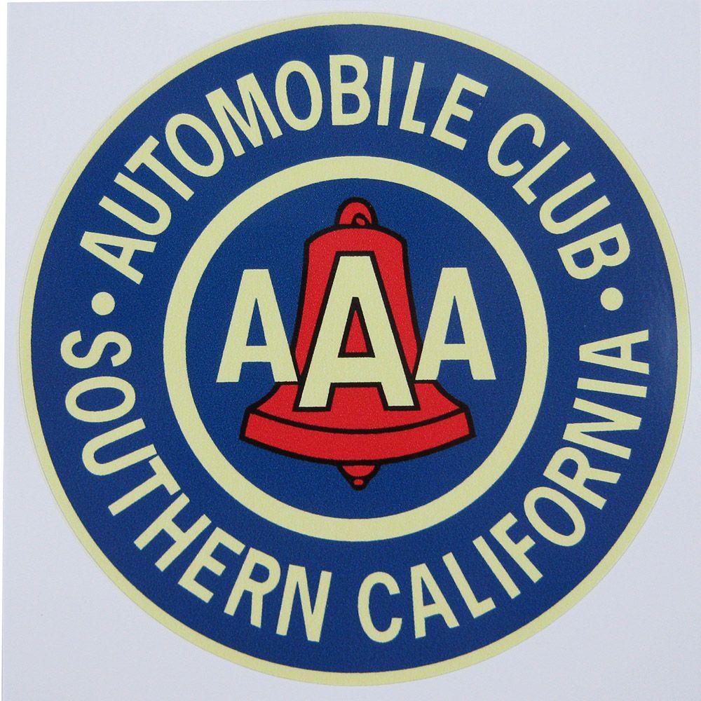 Adesivo modelo AAA - Automobile Club Southern California  - Bunnitu Peças e Acessórios