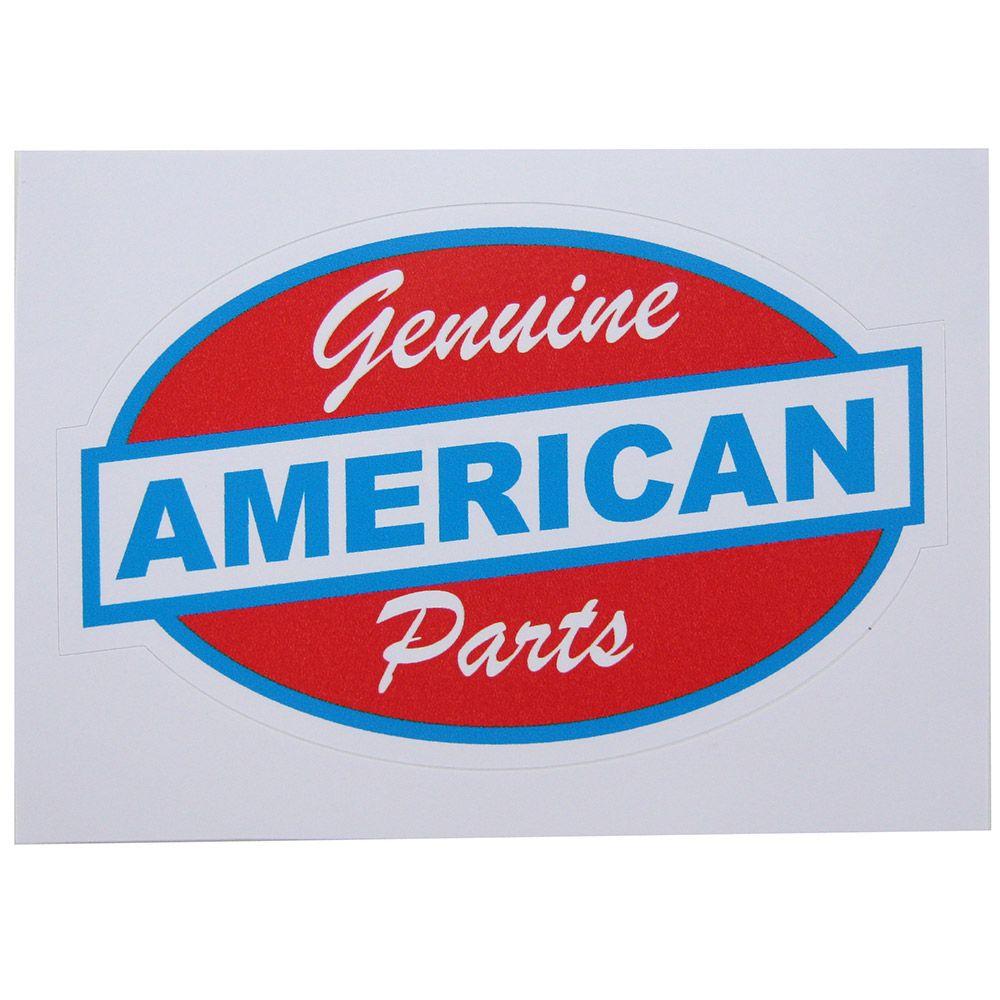 Adesivo modelo American Genuine Parts  - Bunnitu Peças e Acessórios